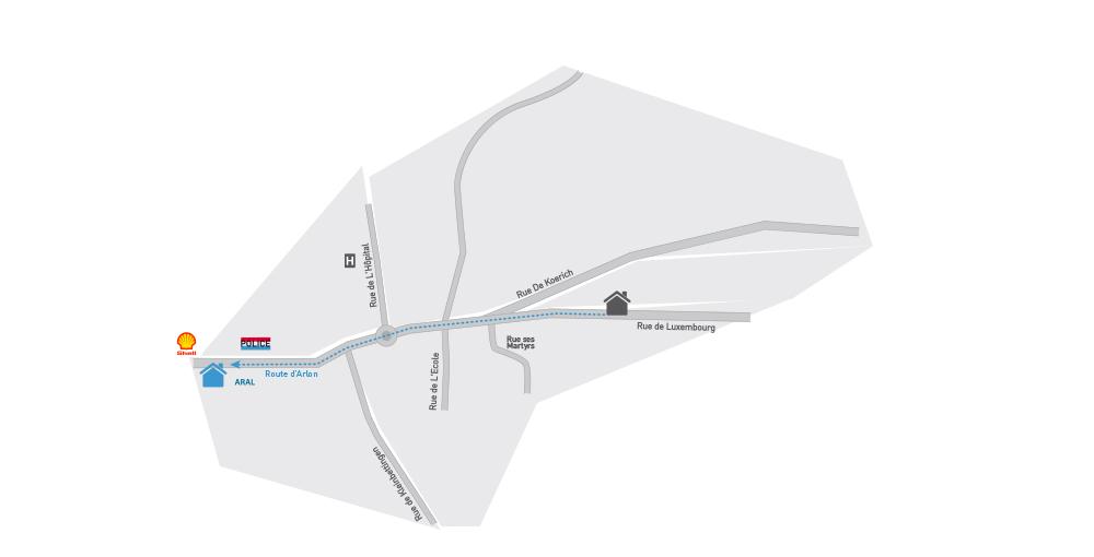Plan nouveau centre Steinfort
