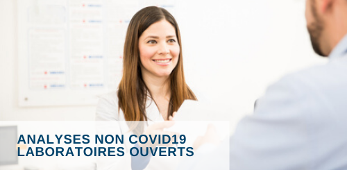 Analyses non-covid19 laboratoires ouverts